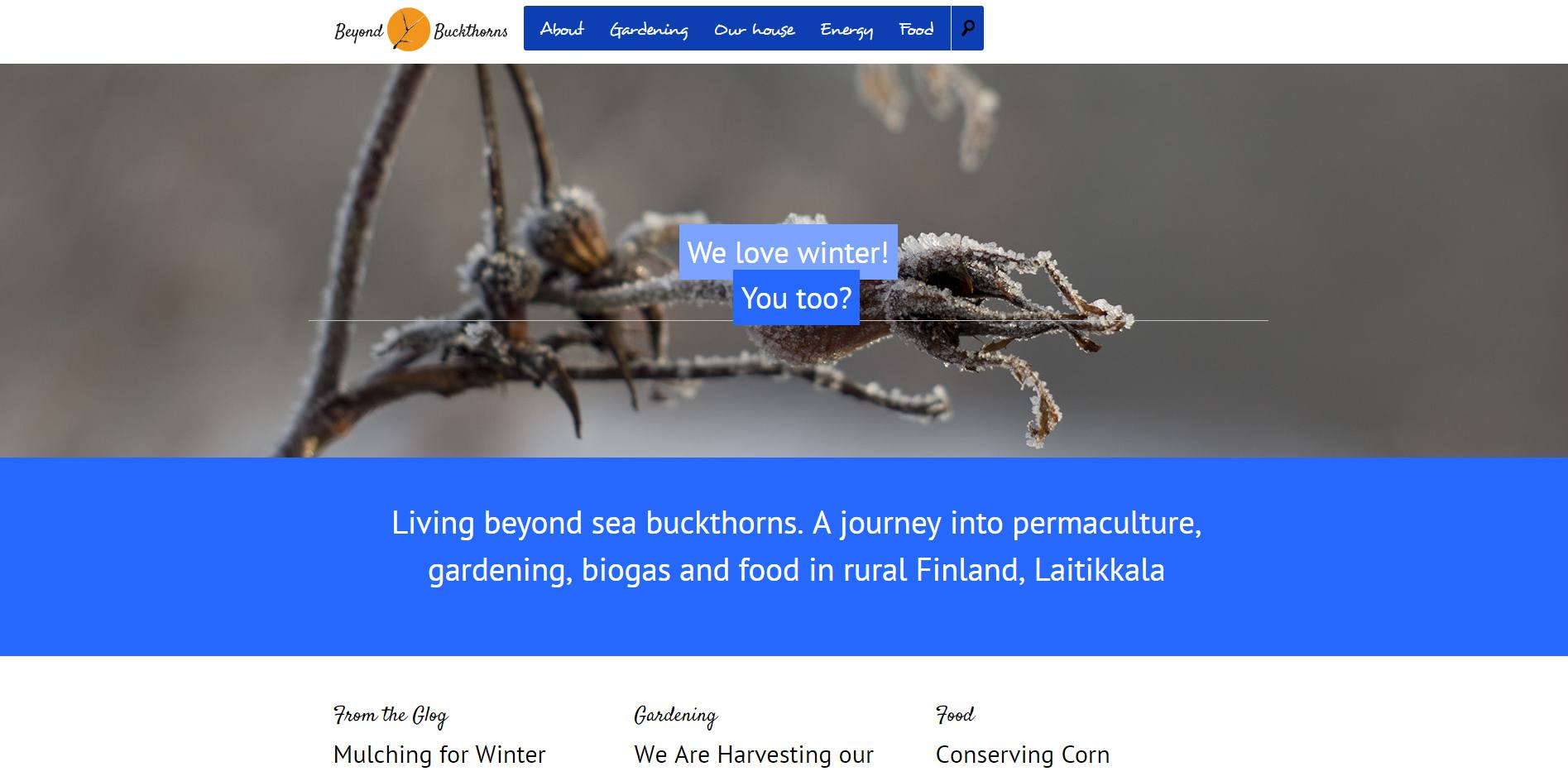 Beyondbuckthorns - a journey into permaculture and biogas in Finland