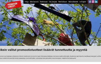 Promotionconcept.fi website header image